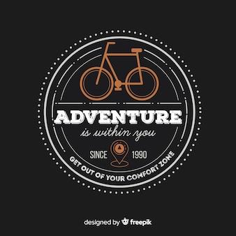 Plantilla de logo de aventura vintage