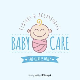Plantilla de logo de bebé