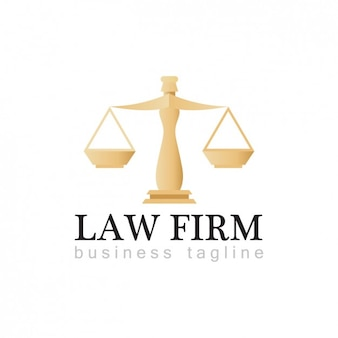 Plantilla de logo de bufete de abogados