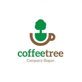 Plantilla de logo de café