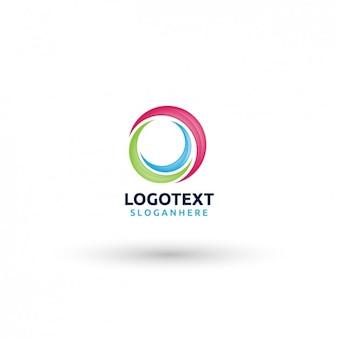 Plantilla de logo circular