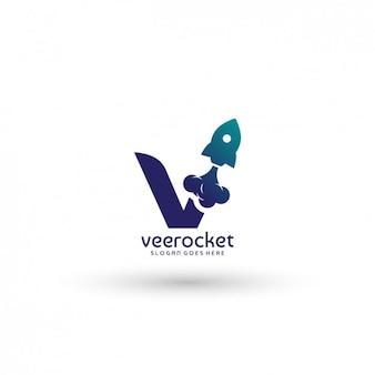 Plantilla de logo de cohete