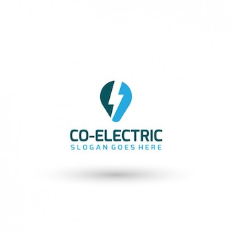 Plantilla de logo de compañía eléctrica