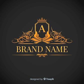 Plantilla de logo corporativo elegante dorado
