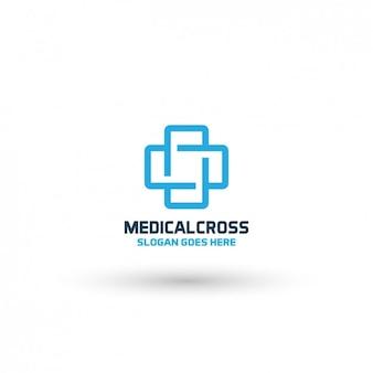 Plantilla de logo de cruz médica