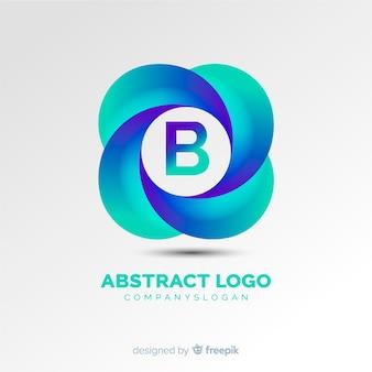 Plantilla de logo degradado con forma abstracta