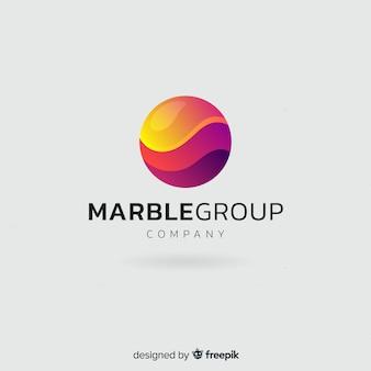 Plantilla de logo con degradado con forma abstracta
