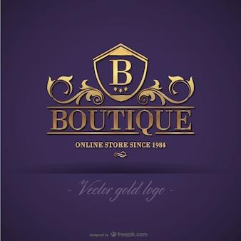 Plantilla de logo dorado de boutique