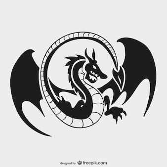 Plantilla de logo de dragón