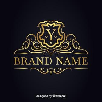 Plantilla de logo elegante dorado para empresas