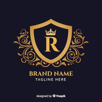 Plantilla de logo elegante dorado
