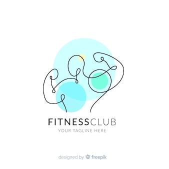 Plantilla de logo de fitness con formas abstractas
