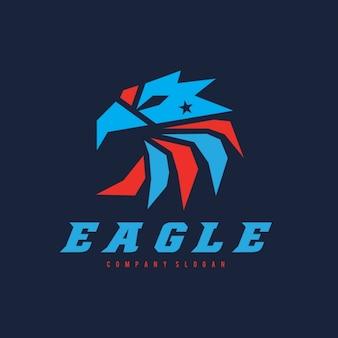 Plantilla de logo con forma de águila