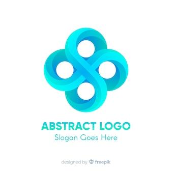 Plantilla de logo con formas abstracta