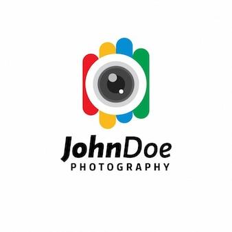 Plantilla de logo de fotografía colorida