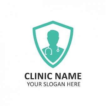 Plantilla de logo de hospital turquesa