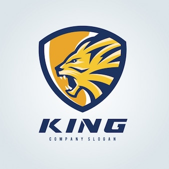 Plantilla de logo de león