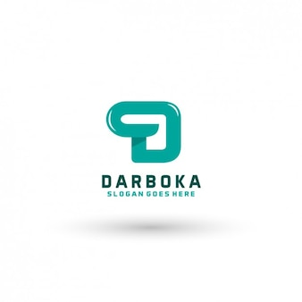 Plantilla de logo de letra d