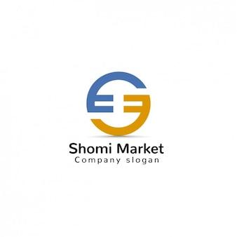 Plantilla de logo de mercado