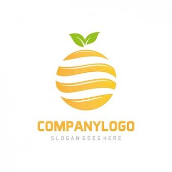 Plantilla de logo de naranja