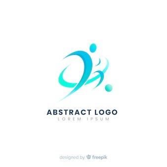 Plantilla de logo o logotipo abstracto con temática de deporte y fútbol