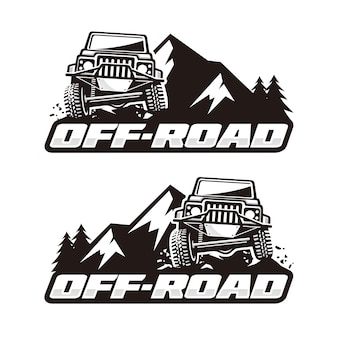 Plantilla de logo off road