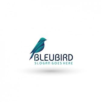 Plantilla de logo con pájaro
