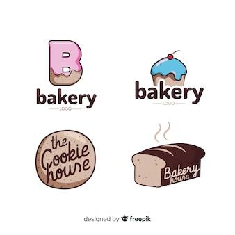 Plantilla de logo de panadería en diseño plano
