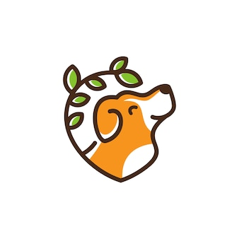 Plantilla logo del perro veterinaria