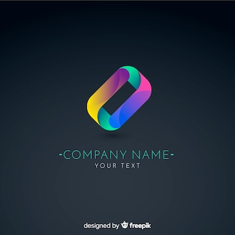 Plantilla de logo de tecnología con degradado para empresas