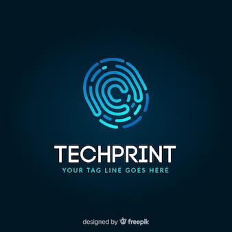 Plantilla de logo de tecnología con formas abstractas