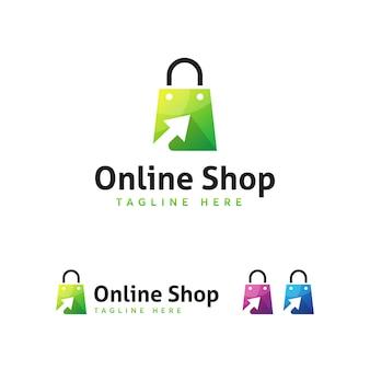 Plantilla de logo de tienda onlone