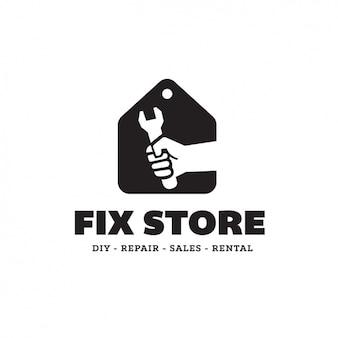 Plantilla de logo de tienda de reparaciones