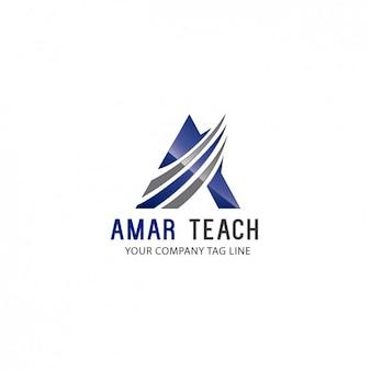 Plantilla de logo triangular