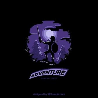 Plantilla de logo de videojuego de aventuras