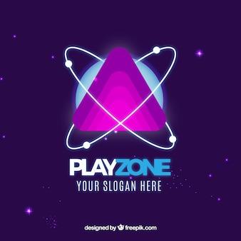 Plantilla de logo de videojuego con estilo moderno