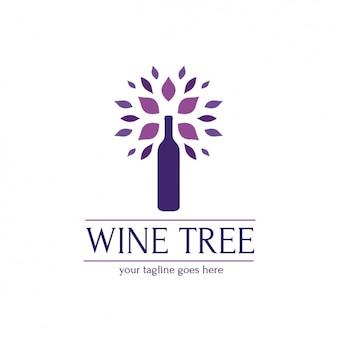 Plantilla de logo de vino
