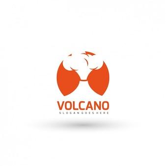 Plantilla de logo de volcán