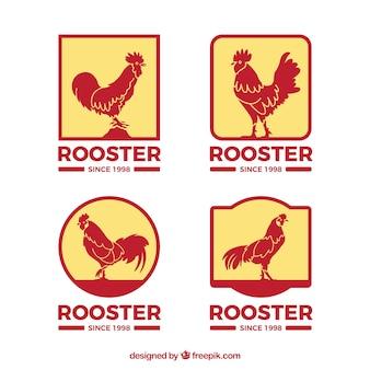 Plantilla de logos de gallos