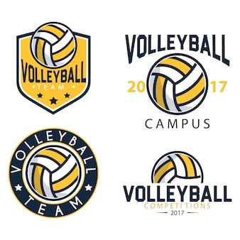 Plantilla de logos de voleibol