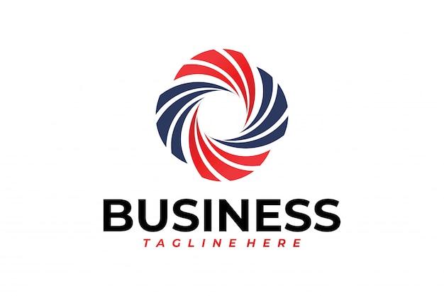 Plantilla de logotipo abstracto círculo