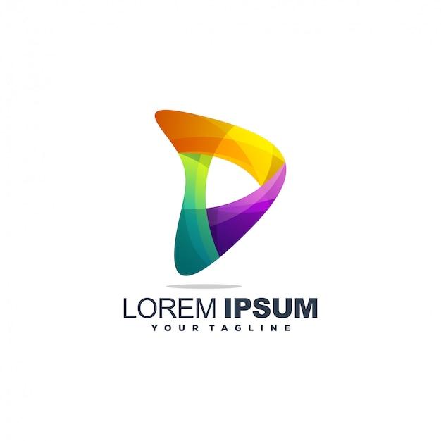 Plantilla de logotipo abstracto degradado