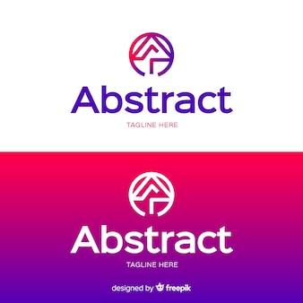 Plantilla de logotipo abstracto para fondo claro y oscuro