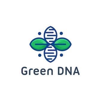 Plantilla de logotipo de adn de naturaleza