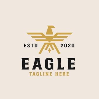 Plantilla de logotipo de águila dorada