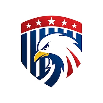 Plantilla de logotipo de águila