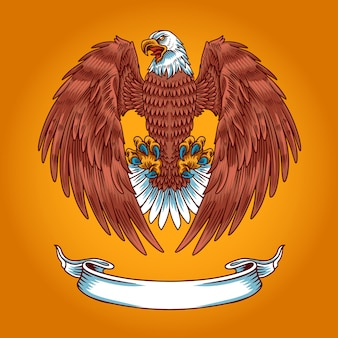Plantilla de logotipo de american eagle