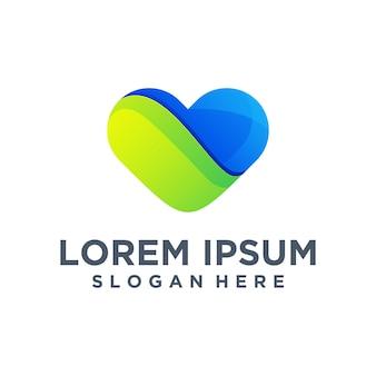 Plantilla de logotipo de amor creativo