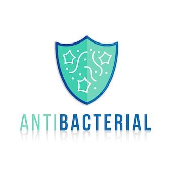 Plantilla de logotipo antibacteriano