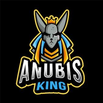 Plantilla de logotipo anubis king esport